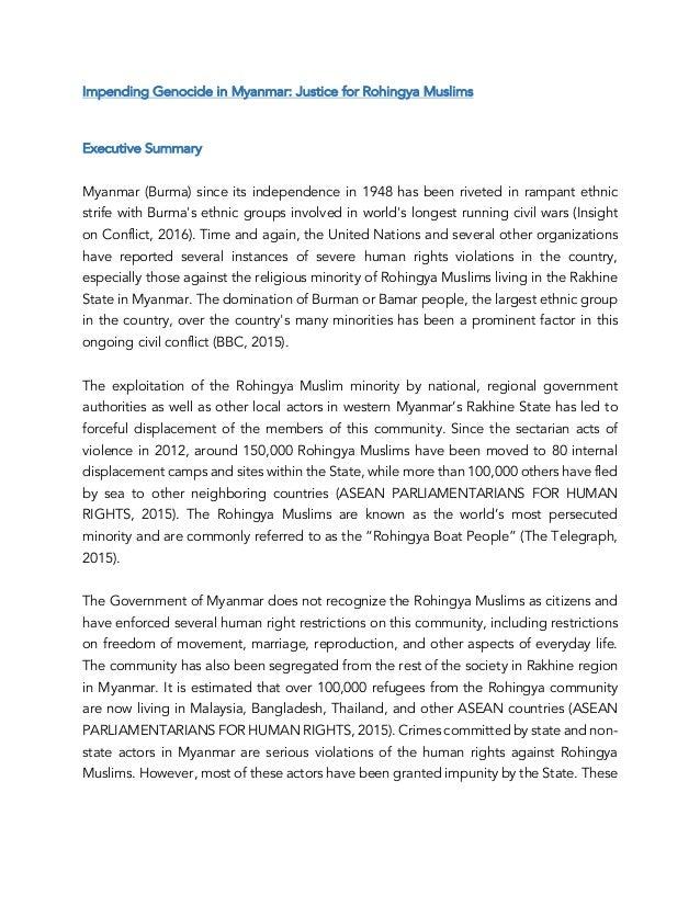 Rohingya Muslim Crisis in Myanmar - Radhika Lalit