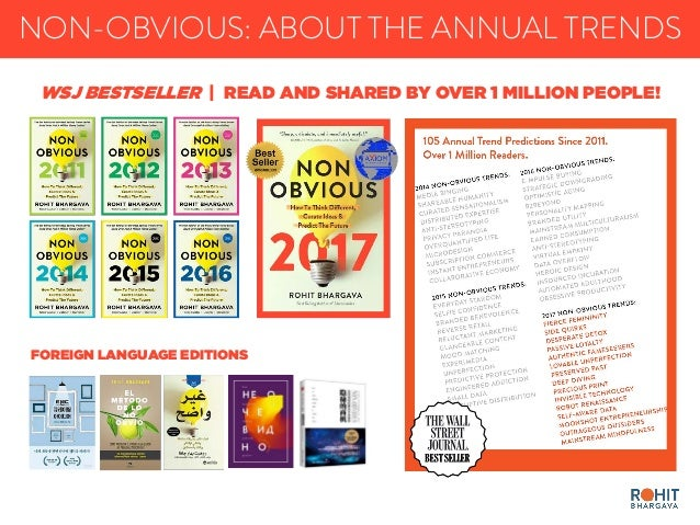 NON-OBVIOUS: ABOUT THE ANNUAL TRENDS FOREIGN LANGUAGE EDITIONS WSJ BESTSELLER | READ AND SHARED BY OVER 1 MILLION PEOPLE!