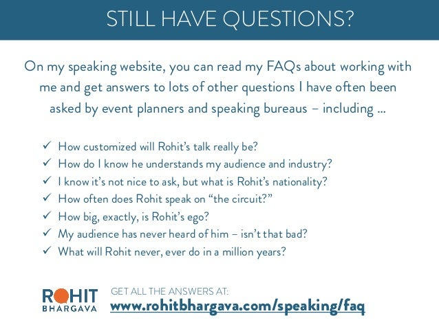 On my speaking website, you can read my FAQs about working with me and get answers to lots of other questions I have often...