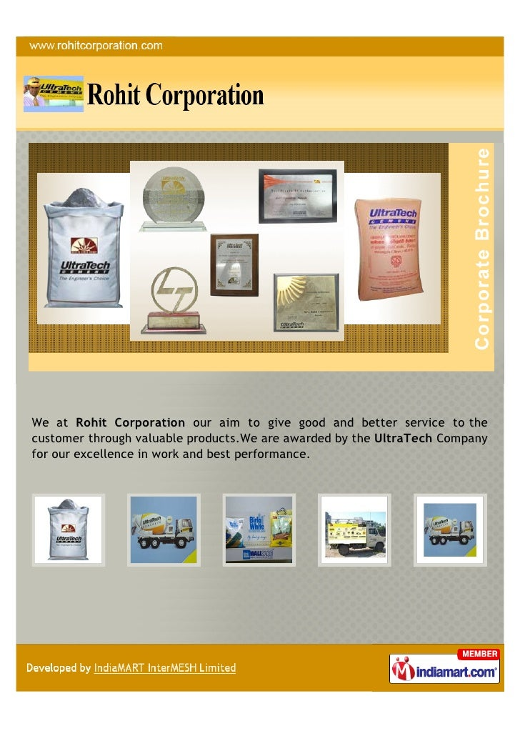 We at Rohit Corporation our aim to give good and better service to thecustomer through valuable products.We are awarded by...