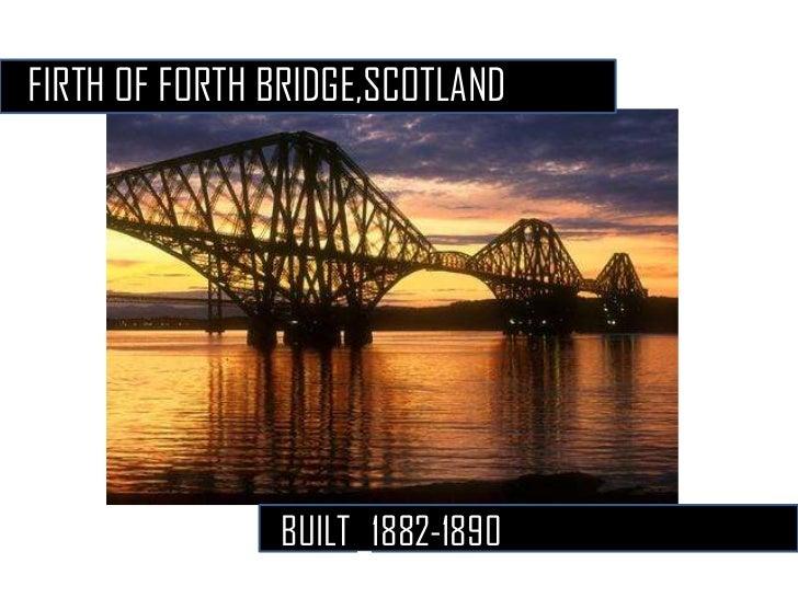 FIRTH OF FORTH BRIDGE,SCOTLAND               BUILT _1882-1890-