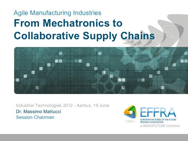 Agile Manufacturing IndustriesFrom Mechatronics toCollaborative Supply ChainsIndustrial Technologies 2012 - Aarhus, 19 Jun...