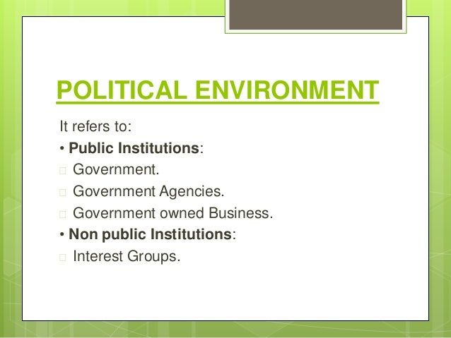 political environment and business