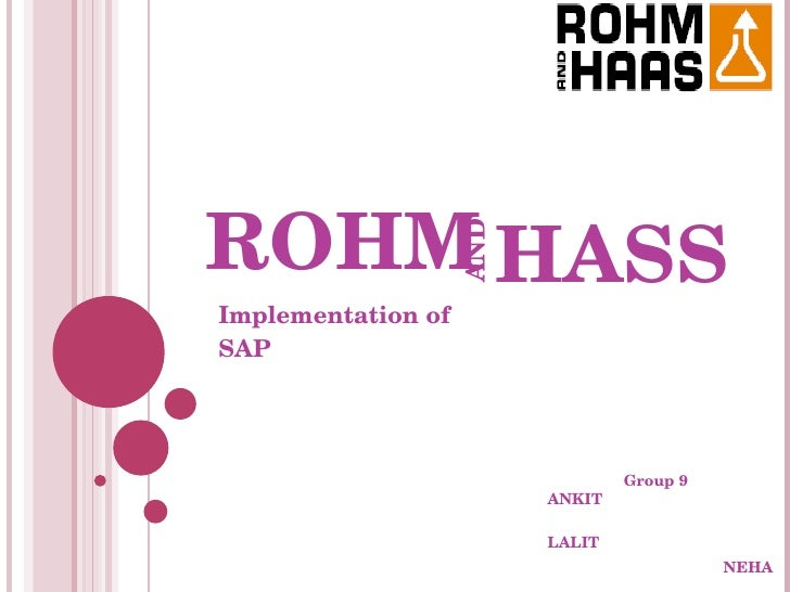case analysis rohm and haas Access to case studies expires six months after purchase date publication date: november 16, 2010 this case analyzes dow chemical company's proposed acquisition of rohm and haas in 2008.