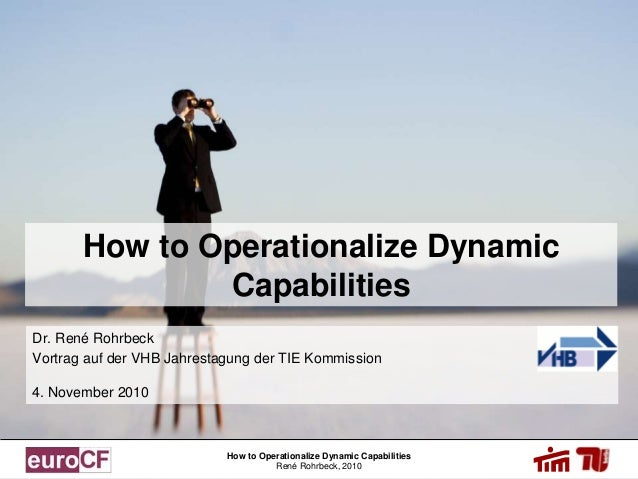 How to Operationalize Dynamic Capabilities René Rohrbeck, 2010 How to Operationalize Dynamic Capabilities Dr. René Rohrbec...