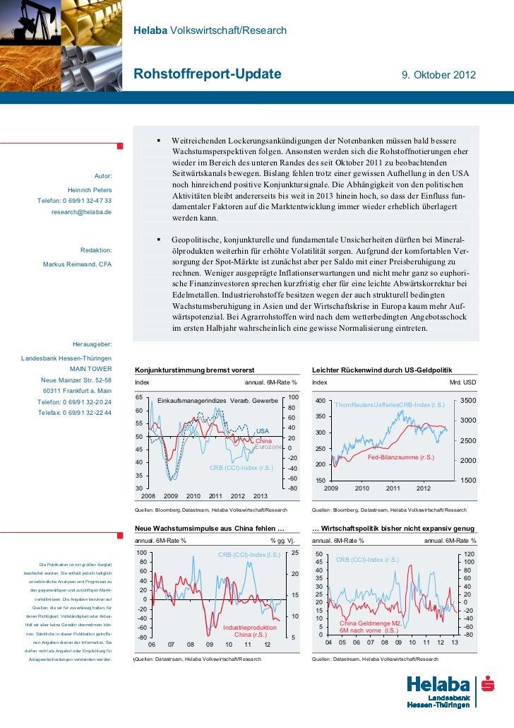 Helaba Volkswirtschaft/Research                                                   Rohstoffreport-Update                   ...