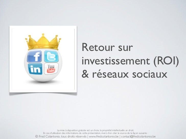 Retour sur                                             investissement (ROI)                                             & ...