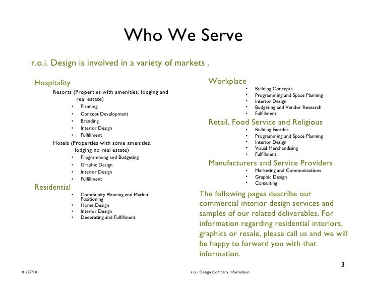 R o i design brochure interior commercial 7 10 - What is programming in interior design ...