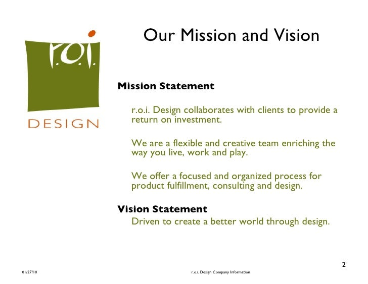 Commercial Interior Design 2 Our Mission And Vision