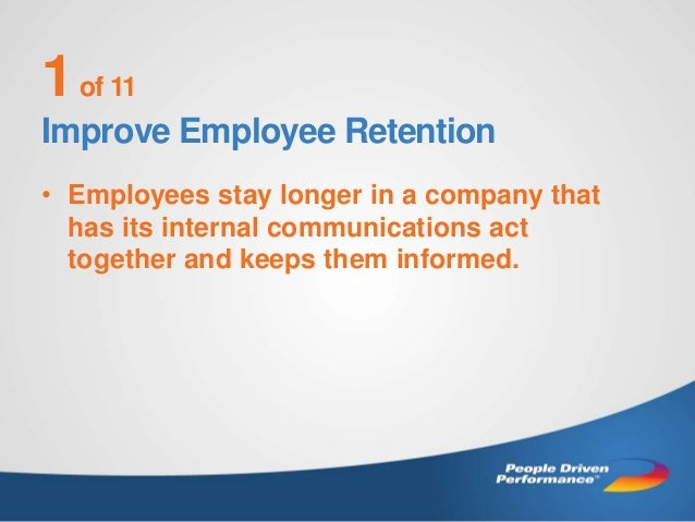 ROI of Internal Communications -- Eleven Reasons to Improve Slide 2
