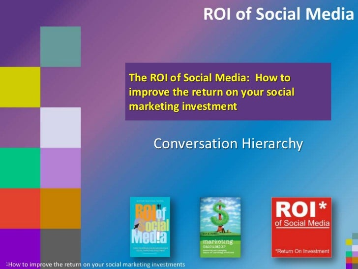 The ROI of Social Media:  How to improve the return on your social marketing investment<br />Conversation Hierarchy<br />1...