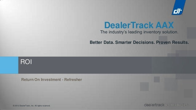 DealerTrack AAX                                                    The industry's leading inventory solution.             ...