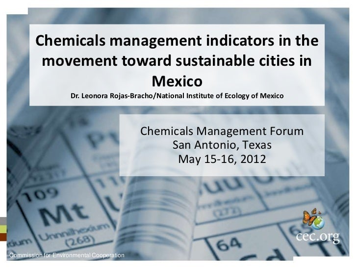 Chemicals management indicators in the         movement toward sustainable cities in                      Mexico          ...
