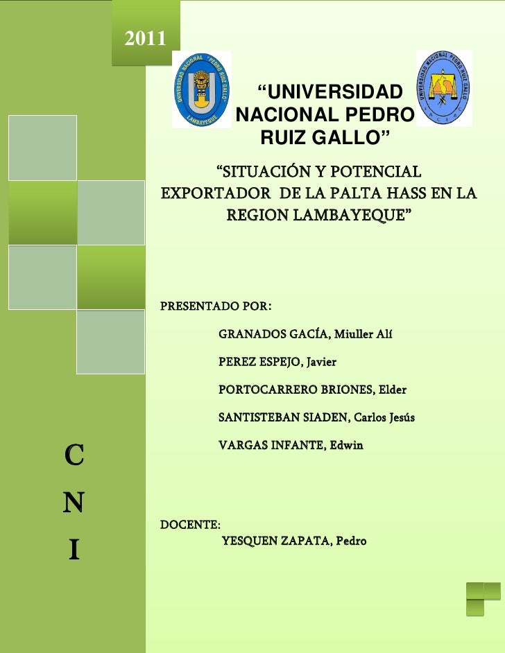 "2011                     ""UNIVERSIDAD                   NACIONAL PEDRO                     RUIZ GALLO""            ""SITUACI..."