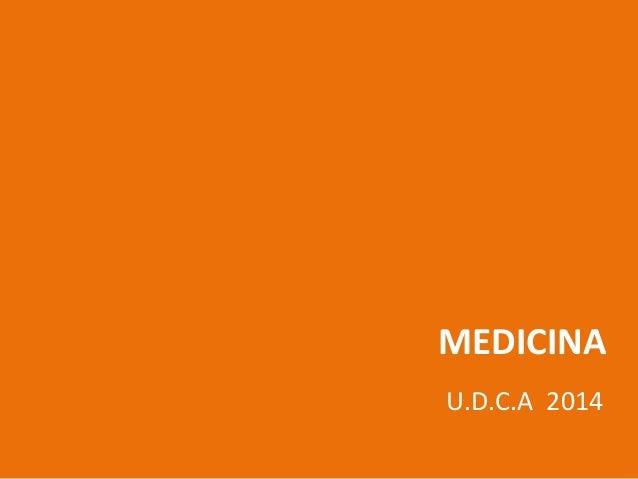 MEDICINA U.D.C.A 2014