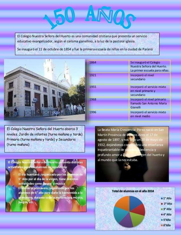 El Colegio Nuestra Señora del Huerto es una comunidad cristiana que presenta un servicio  educativo evangelizador, según e...