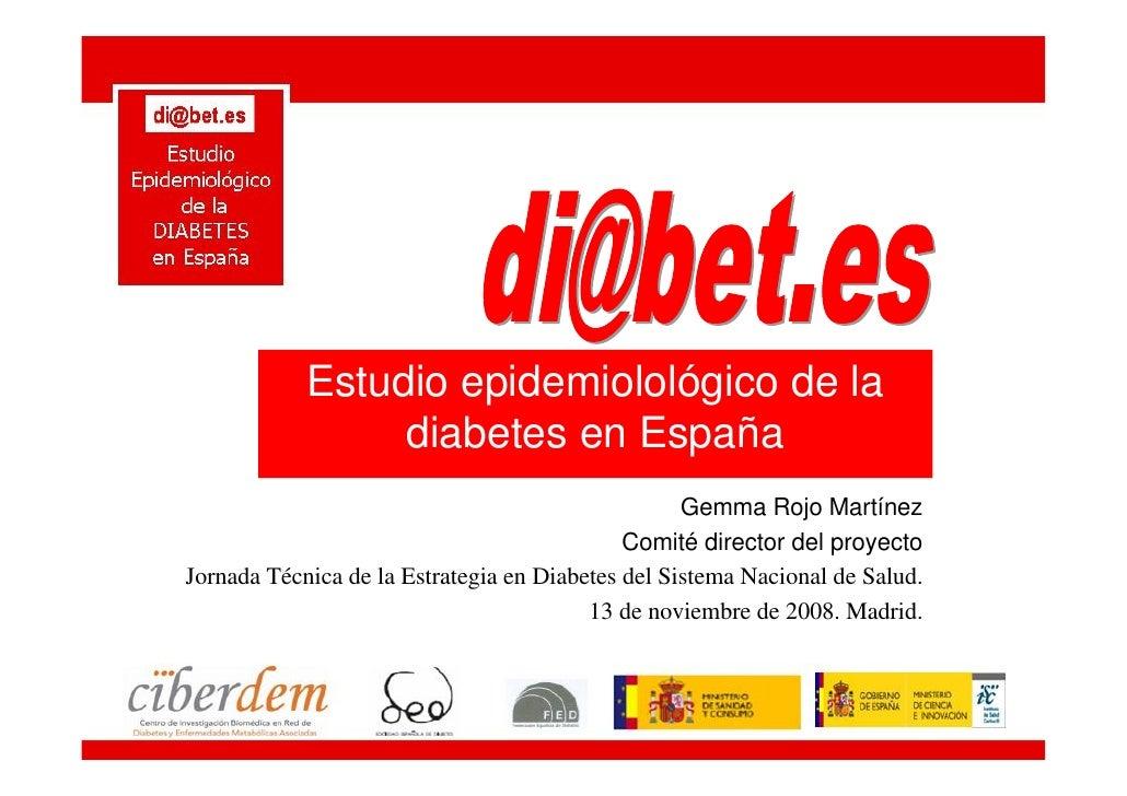Resultados del Estudio Epidemiológico de la Diabetes en