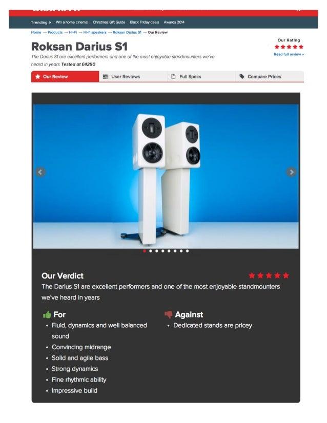 Roksan Darius S1 Speaker Review - What Hi-Fi? Magazine