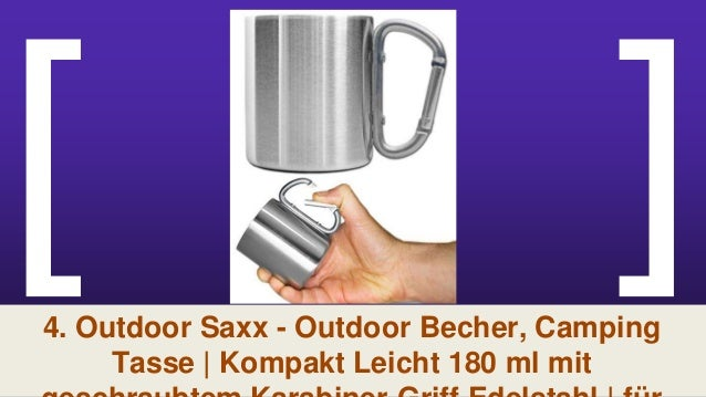 300 ml Arbeit Outdoor Saxx 4er Set f/ür Wandern Trekking 4X Outdoor Becher//Camping Edelstahl Becher