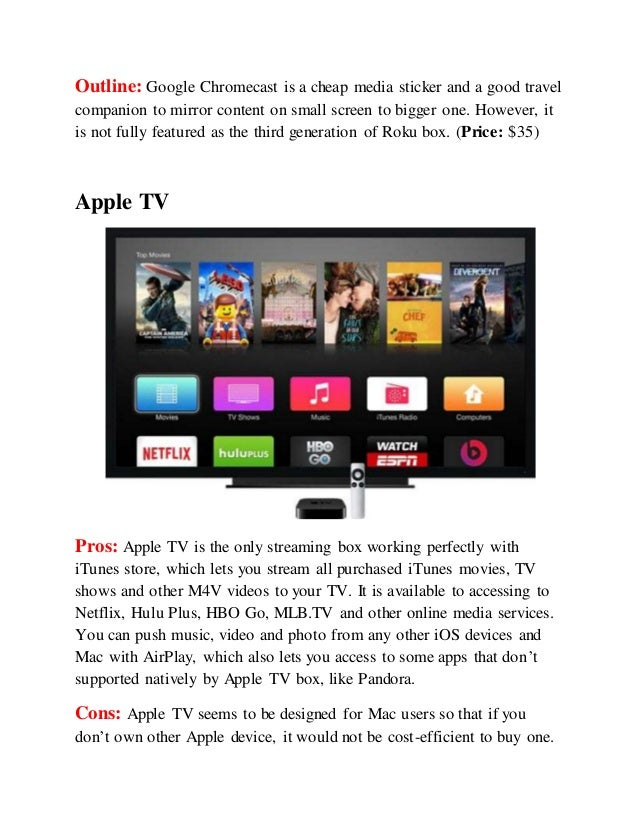 Which Streaming Box Is Right For You Roku 3 Chormecast