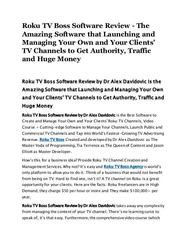Roku TV Boss Software Review