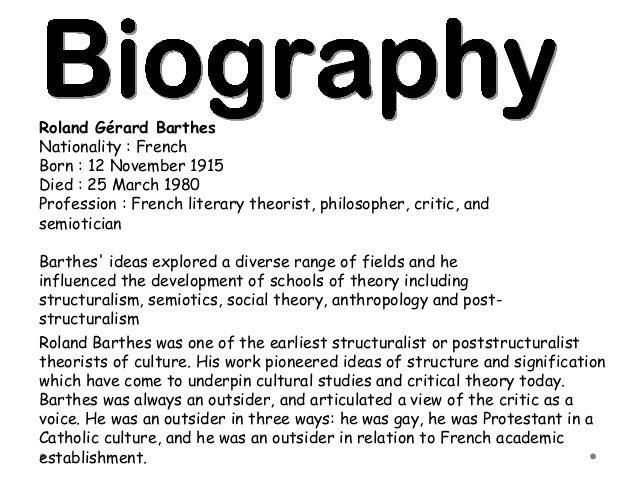 Roland Barthes Critical Essays