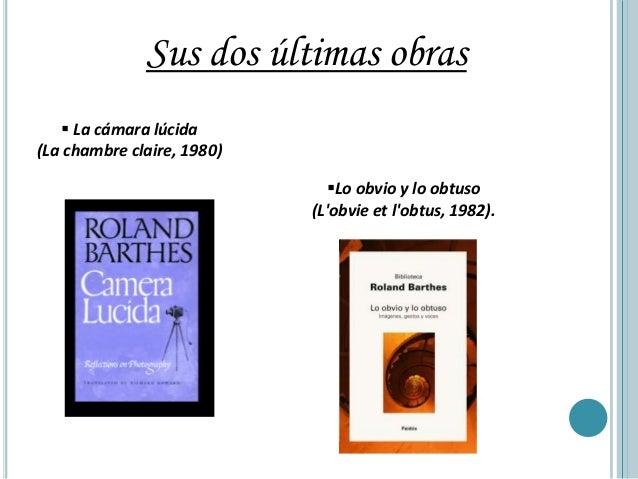 Roland barthes - Barthes la chambre claire ...