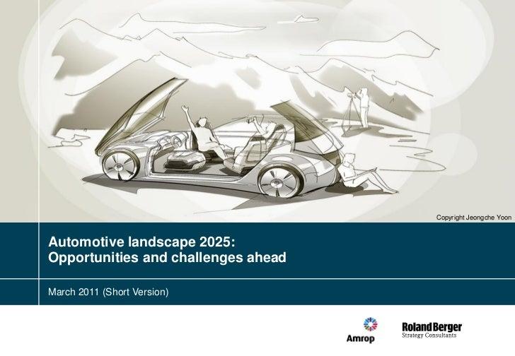 Copyright Jeongche YoonAutomotive landscape 2025:Opportunities and challenges aheadMarch 2011 (Short Version)