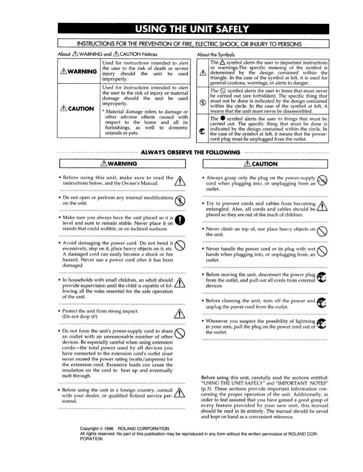 Roland sc 88 pro manual Slide 3