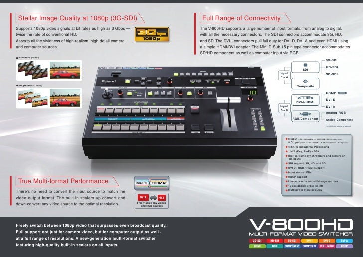 Roland V-800HD Switcher