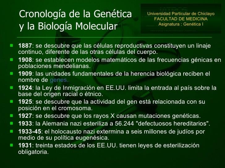 <ul><li>1887 : se descubre que las células reproductivas co n s t ituyen un linaje continuo, diferente de las otras célula...