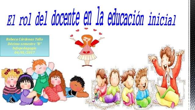 Rol del docente en la educaci n inicial for Planificacion de educacion inicial
