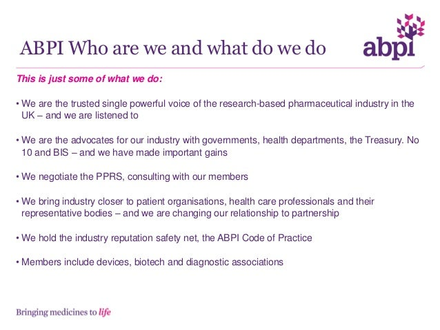Role of abpi regional industry group and the nhs partnerships team Slide 2