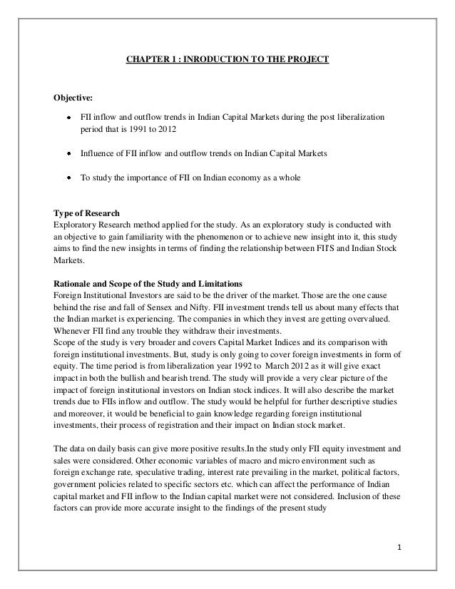 literature review on role of fiis in indian capital market Contributions and role of fii investments in current scenario for this purpose economic indicators like gdp was considered this paper makes an attempt to focus and study the nature and pattern of fii investments into indian capital market this paper also reveals the sector wise investments of fii into various investment.