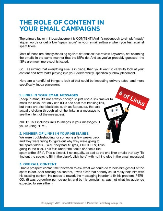 Role of Content in Emails Slide 3