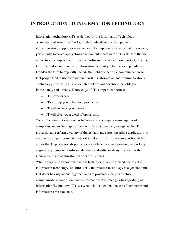 role of information technology in development of hindi Free sample essay on scientific and technological development in india (free to read) the modern age is the age of science, technology, knowledge and information.