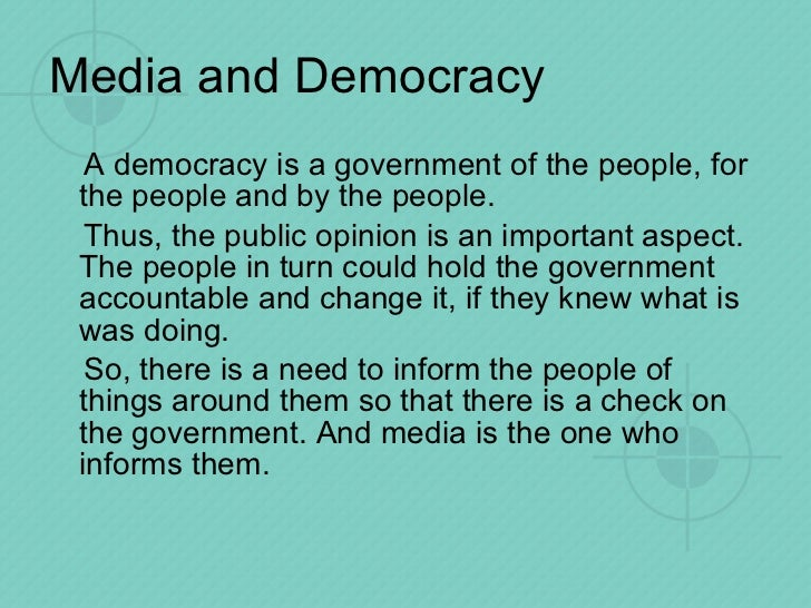 essay on importance of media in our society