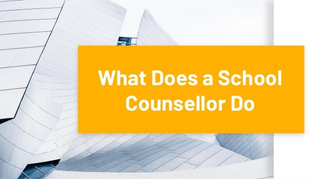 What Does a School Counsellor Do