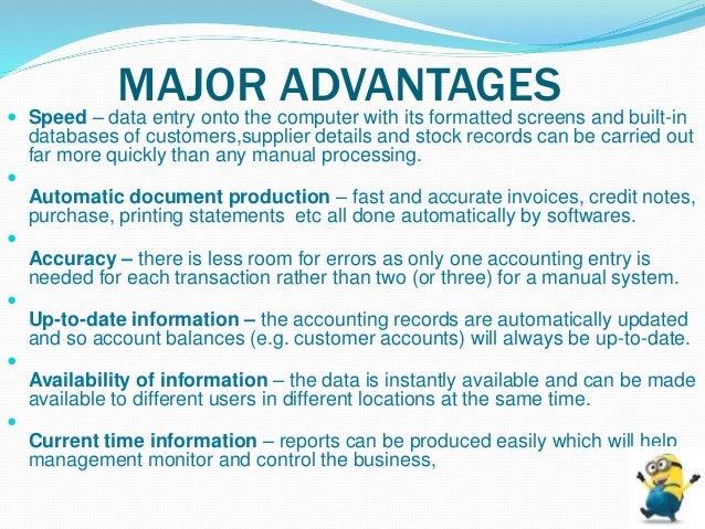 advantage and disadvantage of manual accounting system pdf