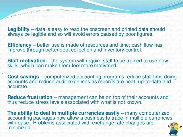 advantages of computerised auditing