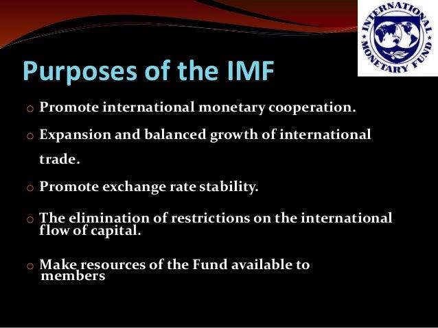 functions of international monetary fund ppt