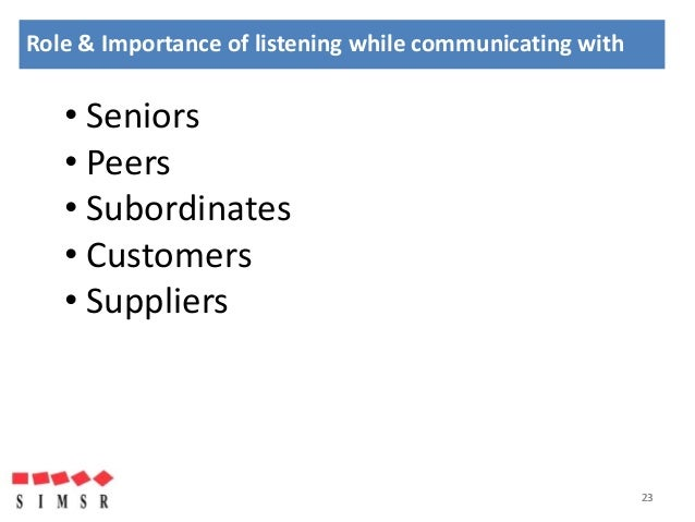 the significance of listening Learn about the significance of effective listening by viewing video lessons on the stages of listening, how it's used in the workplace, and how.