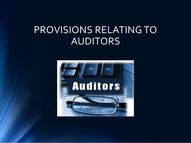 4 provisions relating to auditors