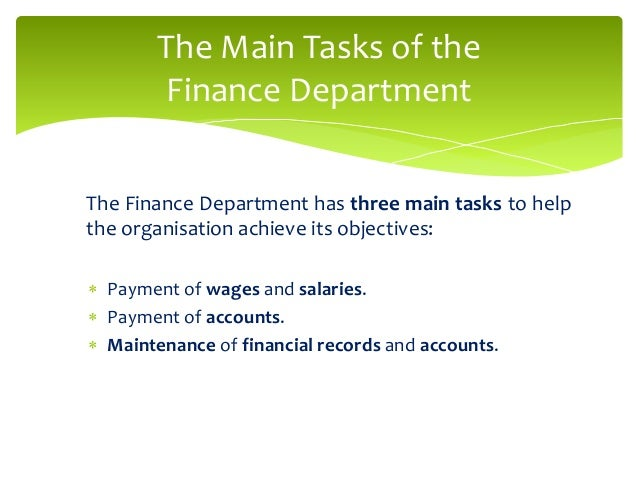 significance of departmental accounts The department of accounting and finance is one of four constituent  of  excellence and relevance in the teaching of the core disciplines, accounting,  finance,.