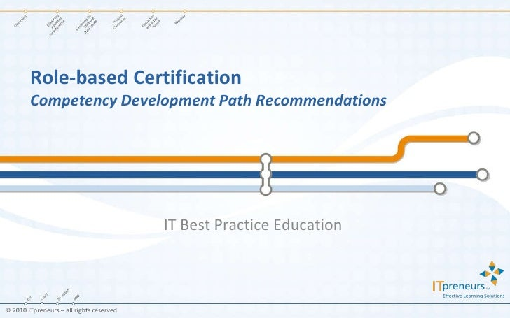 Role-based Certification Competency Development Path Recommendations IT Best Practice Education