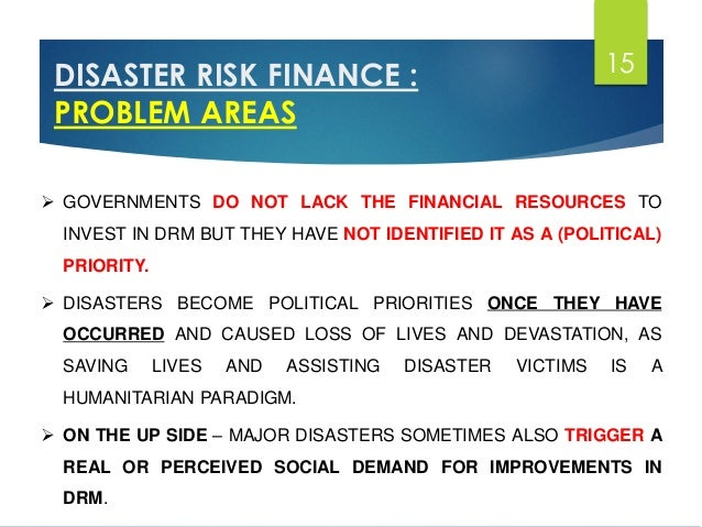 Role & Importance of Finance in Disaster Management