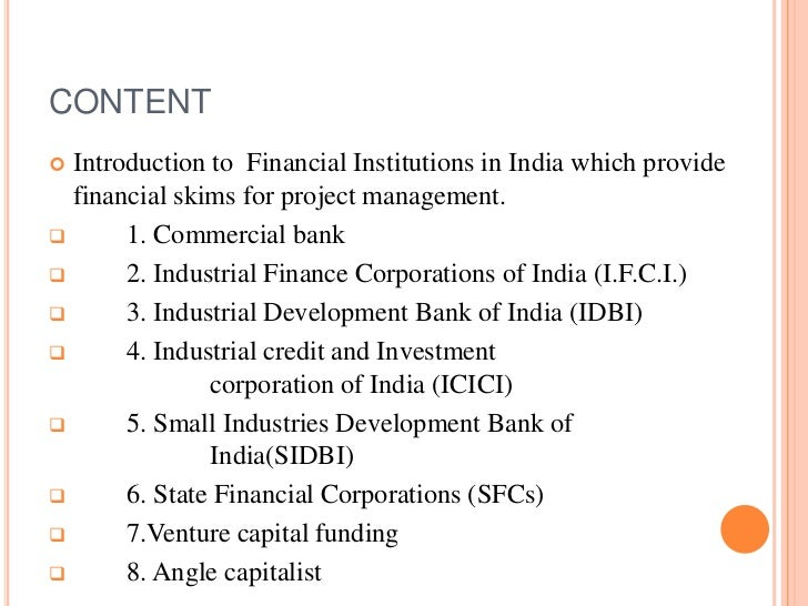 Role of financial institution Slide 2