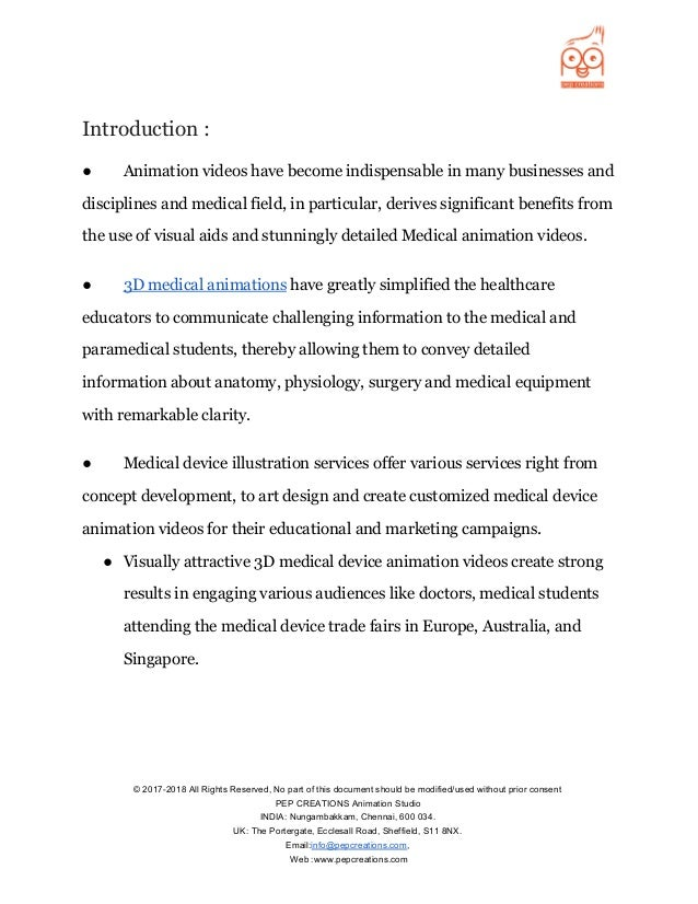 Role of 3D Medical animation videos in Medical Device Industry