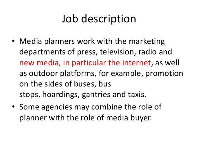 Role Of A Media Planner
