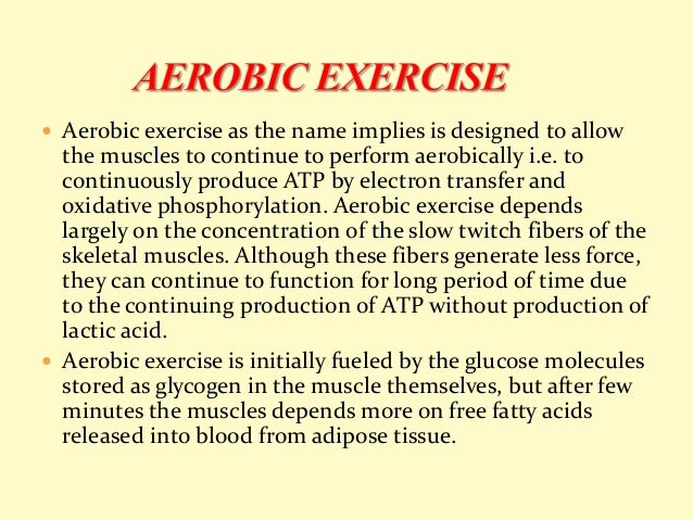 Role of anaerobic and anaerobic metabolism in exercise.